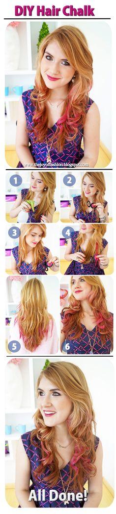 ¡Dale color a tu cabello temporalmente usando tizas!