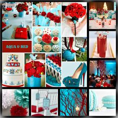 AQUA & RED WEDDING http://www.facebook.com/pages/Rock-your-Locks/133025596754055?fref=ts