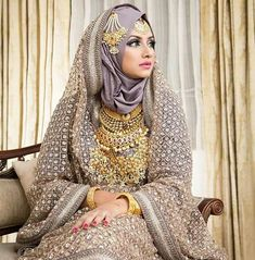 Hijabi Wedding, Muslimah Wedding Dress, Hijab Bride, Indian Wedding Wear, Pakistani Bridal Wear, Bridal Hijab Styles, Bridal Lehenga Collection, Heavy Dresses, Bridal Outfits
