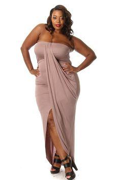 Tube top dress plus size | Color dress | Pinterest | More Tube top ...