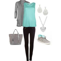 """Grey and Blue."" by daisyhastings on Polyvore"