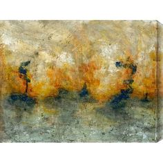 """Gallery Direct Sea of Flames by Justin Garcia Painting Print on Canvas Size: 20"""" H x 16"""" W"""