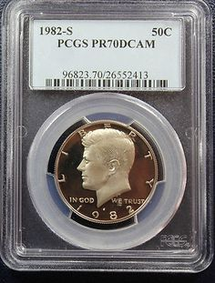 1982 S Kennedy Half Dollar PCGS PR70 DCAM. Available at Finger Lakes Numismatics