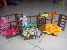 Janelinhas com flores