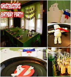 A Ghostbusters party Ghostbusters Party Supplies, Ghostbusters Birthday Party, Ghostbusters Theme, Woody Birthday, 8th Birthday, Birthday Parties, Birthday Ideas, Party Planning, Party Time