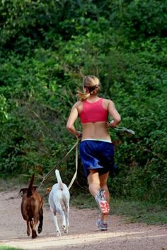 Running with dogs mean you need to #RockTheLock at www.locklaces.com. No tripping allowed!