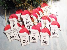 periodic table of the elements ornaments.