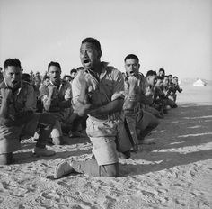 History In Pictures ‏@HistoryInPics  Maori Battalion doing the Haka in North Africa, 1941