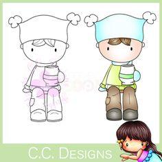 C.C. Designs Rubber Stamp - Sugarplums Cocoa Trevor