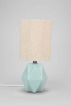 Sun Room Table Lamp (comes in other colors - UO also has other good table lamp options) - Faceted Pastel Table Lamp - Urban Outfitters Teen Girl Bedrooms, Big Girl Rooms, Teen Bedroom, Kids Rooms, Urban Outfitters Apartment, Home Lighting, Bedroom Lighting, Apartment Lighting, Table Lighting