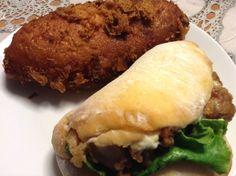 ビーフカレーパンとチキン南蛮サンド