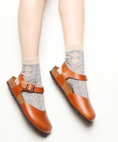 Brown shoes and beige gray socks # birkenstocks # fashion # socks
