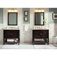 Foremost Gazette 36 in. W x 21.75 in. D x 34 in. H Vanity Cabinet Only in Espresso-GAEA3622 - The Home Depot