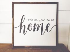 It's So Good To Be Home | Apartment Therapy | HGTV | Shanty2Chic | Fixer Upper | Farmhouse Sign | Farmhouse Decor | Pallet Sign | Reclaimed Wood | DIY | Pallet Art | Rustic Sign | Rustic Home Decor | Quote Sign | Bedroom Decor | Shabby Chic | Pallet Crafts | Home Decor | Wood Sign | Farmhouse | Farmhouse Sign | Farmhouse Decor