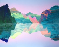 Interview with Australian artist Kate Shaw about her psychedelic landscapes - Lost At E Minor: For creative people