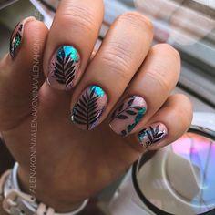 Pedicure Nail Art, Manicure And Pedicure, Hot Nails, Hair And Nails, Gorgeous Nails, Pretty Nails, Secret Nails, Square Nail Designs, Magic Nails