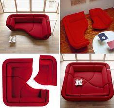 Yang Sofa : Modular Sofa Sectional Seating by Lignet Roset. I really want this sofa set someday. Multifunctional Furniture, Modular Furniture, Modular Couch, Sofa Design, Couch Furniture, Furniture Design, Furniture Ideas, Cool Couches, Ideas Hogar
