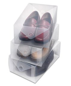 Look at this Clear Vue Men's Shoe Box - Set of Three on #zulily today!