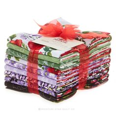 Poppy Panache Fat Quarter Bundle - Ann Lauer - Benartex