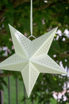3D Paper Star Lantern w Lattice Cutouts - SVG CUTTING FILE special occasion, luminary, lighting, des 3d Star, 3d Paper Star, Paper Stars, Paper Star Lanterns, Tiny Star, Cricut Design, Paper Design, Special Occasion, Stars