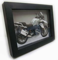 Quadro Decorativo 3d Moto BMW 18x24cm