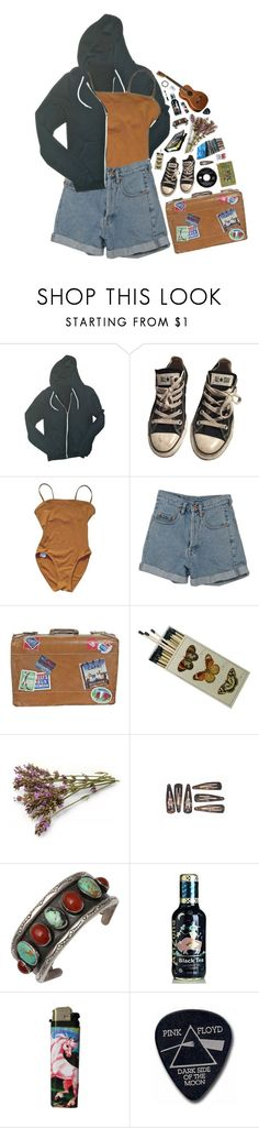 """adrenaline"" by xambergurlx ❤ liked on Polyvore featuring American Apparel, Converse, Eres, PèPè, Floyd, Sharpie and vintage"