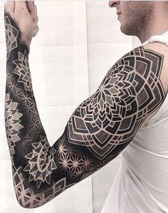 Mandala tattoo design - 50 of the Most Beautiful Mandala Tattoo Designs for Your Body & Soul – Mandala tattoo design Mandala Tattoo Design, Mandala Tattoo Mann, Geometric Tattoo Sleeve Designs, Mandala Tattoo Sleeve, Geometric Mandala Tattoo, Geometric Tattoos Men, Arm Sleeve Tattoos, Tribal Tattoos, Tattoo Designs