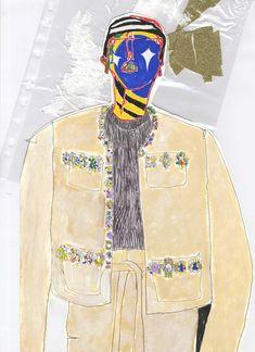 Charles Jeffrey draws Grace Wales Bonner's CSM graduate collection. #ShowStudio…