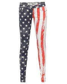 Asymmetrical flag pants
