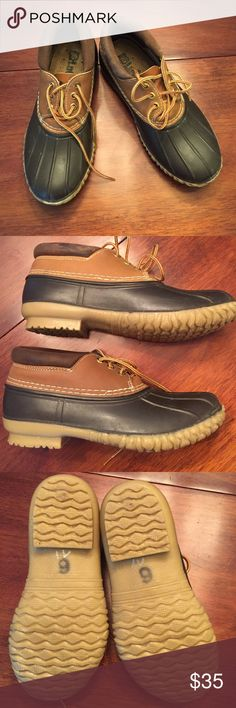 LaCrosse duck shoes LaCrosse for JCrew duck shoes. Men's 6 which is a women's 8. Worn a couple times great condition J. Crew Shoes Winter & Rain Boots