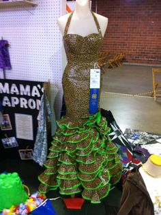 Duct Tape Dress, blue ribbon in crafts, Iowa State Fair, Des Moines, August 2013.