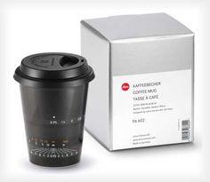 ライカのレンズをモチーフにしたマグカップ「Leica lens mugs」