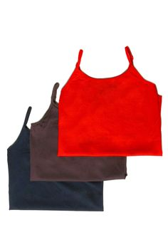 Sakkas Seamless Adjustable Strap Cami Tank Top - Assorted Color 3 Pack