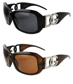 2 pairs of DG Eyewear Designer Sunglasses Brown, Black frame Oculos De Sol,  Óculos e53cbc6558
