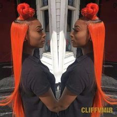 hair, orange hair, and straight hair image