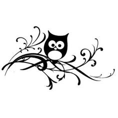 Artemio Wooden Stamp F owl on a Branch Doodle Drawings, Easy Drawings, Doodle Art, Silhouette Curio, Silhouette Portrait, Black And White Owl, Moss Art, Owl Pictures, Wise Owl