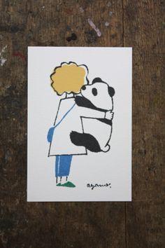 ポストカード「boy_panda」