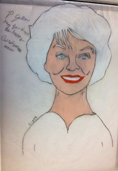 Susan Seaforth Hayes done with prisma color Colored pencils and charcoal pencil