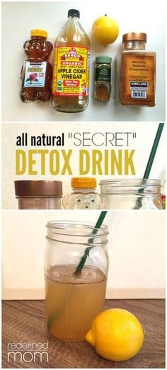 """""""Secret"""" Detox Drink Recipe This all natural """"secret"""" detox drink recipe will help bloating, increase energy, speed-up metabolism, stabilize blood sugar and boost your immune system.This all natural """"secret"""" detox drink recipe will help bloating, increase Healthy Detox, Healthy Drinks, Healthy Life, Healthy Living, Healthy Water, Nutrition Drinks, Healthy Food, Healthy Lunches, Diet Drinks"""