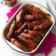 Kansas City-Style Ribs Recipe -Our family recipe for ribs has evolved to near perfection. These country-style beauties are a legend in our close circle. —Linda Schend, Kenosha, Wisconsin