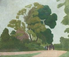 Robert Bevan (British, 1865-1925), The Two Ash Trees, 1924. Oil on canvas