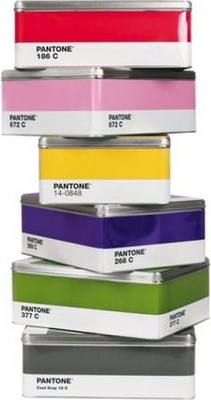 Pantone Tin Box - eclectic - storage boxes - A+R Eclectic Storage Boxes, Storage Bins, Paper Storage, Smart Storage, Storage Containers, Storage Solutions, Cadeau Design, Pantone Universe, Metal Box