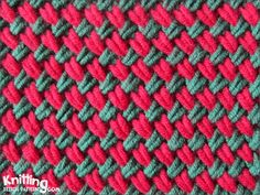 Woven Plait stitch is a dense stitch and pulls in considerably  |  Knitting stitch patterns