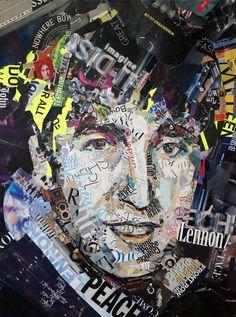 John Lennon collage by Ines Kouidis