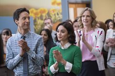'Powerless' adds laughs to the DC Universe     - CNET  Enlarge Image  POWERLESS  Pilot  Pictured: (l-r) Danny Pudi as Teddy Vanessa Hudgens as Emily Christina Kirk as Jackie                                              NBC Chris Large/NBC                                          Warner Bros Television debuted the pilot for its DC Comics-based comedy Powerless starring Vanessa Hudgens and Alan Tudyk during Preview Night on Wednesday at 2016 San Diego Comic-Con.  In the show premiering…