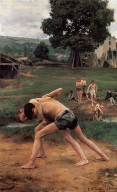 La Lutte, 1889 - Émile Friant