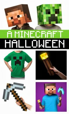 minecraft mamas: a minecraft halloween!  @raquel Baker  start making minecraft pins to sell to all the boy/man nerds in your life