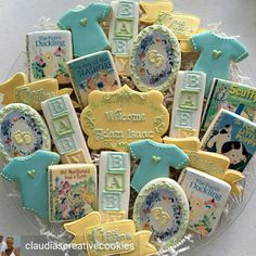 A new chapter begins. Baby Cookies, Baby Shower Cookies, Sugar Cookies, Shortbread Cookies, Book Shower, Storybook Baby Shower, Girl Decor, Baby Shower Themes, Shower Ideas