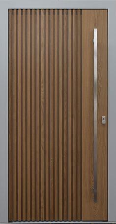 Windows in wood and wood-aluminum KOWA- Fenster aus Holz und Holz-Aluminium Flush Door Design, Single Door Design, Door Gate Design, Door Design Interior, Front Door Design, Modern Wood Doors, Modern Entrance Door, Wooden Door Hangers, Wooden Doors