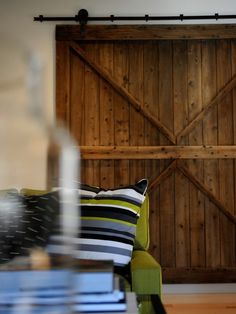 And... I totally want a barn door either as decor or to hide a closet in my bedroom someday. Preferrably rustic and weathered or painted ages ago.